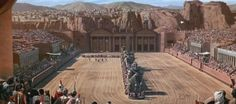 BEN HUR 1959 Chariot Race The biggest scene from the film is the chariot race  in the Circus Maximus (a replica of the one in Rome). It is also one of the most famous and thrilling scene sequences ever made in film history.  The site of the race, the Circus Maximus in Jerusalem (Judea), was constructed on over 18 acres of backlot space at Cincecitta Studios outside of Rome, Italy. The filming of the sequence took five weeks and used 15 thousand extras.