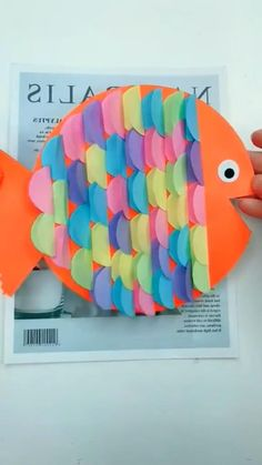 Baby Art Crafts, Diy Crafts To Do, Fish Crafts, Art N Craft, Toddler Crafts, Diy Crafts Videos, Creative Crafts, Craft Activities For Kids, Preschool Crafts