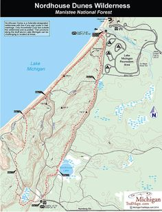 Nordhouse Dunes Wilderness - Manistee National Forest - Michigan Trail Maps