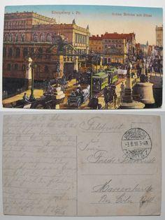 Original gelaufene bunte Postkarte KÖNIGSBERG OSTPR. Börse