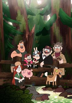 gravi-teamfalls posted an unfinished promo pic by Alonso Ramirez Ramos and i loved it so much that i inked and colored it for fun ; i was kind of trying to merge gravity falls' style and my ownhere is the original sketch Fall Wallpaper, Iphone Wallpaper, Monster Falls, Phineas Und Ferb, Desenhos Gravity Falls, Gravity Falls Fan Art, Reverse Falls, Disney Shows, Pony Party
