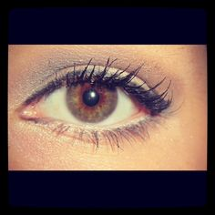 my makeup from the other day. :)