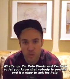 PETE WENTZ EVERYBODY LOOK AT THIS AMAZING HUMAN BEING