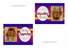 Free printable Dare to be a Daniel Note Cards with Bible verse  | https://papergiftsforestefany.wordpress.com @Compassion International #letterwriting #childsponsorship #freeprintable  #printables #bibleverse #scripture #kids #bible #forkids #stationery #daniel #notecards #danielinthelionsden