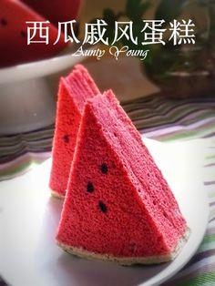 Watermelon Chiffon Cake