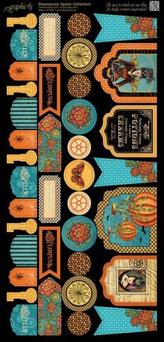 Cardstock Banners 2 from our new collection Steampunk Spells! #graphic45 #steampunk #sneakpeeks