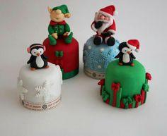Four festive mini cakes