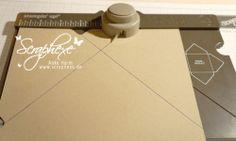 How to make a box using the Envelope Punch board - Beispiel mit 3 Größen Card Making Tutorials, Card Making Techniques, Envelope Punch Board Projects, Envelope Maker, How To Make An Envelope, Card Storage, Tips & Tricks, Craft Box, Card Envelopes