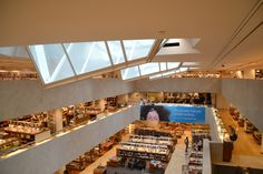 Incredible skylights. Academic Bookshop by Alvar Aalto Helsinki, Finland Summer 2011