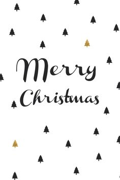 Merry christmas card - black and gold
