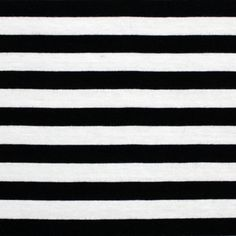 Back in Stock!  Half Inch Black White Stripe Cotton Jersey Blend Knit Fabric - Perfect seasonless staple black and white 1/2 stripe cotton jersey rayon blend knit. Fabric is very soft and and has a nice stretch and drape, light to mid weight.  ::  $6.00
