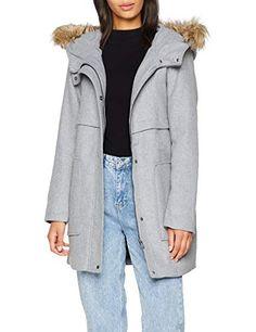 46 taille Fur Faux Grey Femme New Manteau Madison light Look Gris qOZPzB