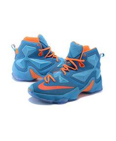 bd9dce22b494 Nike Lebron 13 (XIII) - Lebron Basketball Shoes - Lebron Blue Orange -  Lebron James 2016 Sneaker