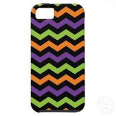 Fun Neon Green Orange Purple and Black Chevrons iPhone 5 Case