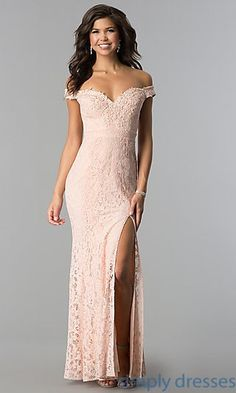 Shop long lace off-the-shoulder prom dresses at Simply Dresses. Cheap formal a9ade76b0949