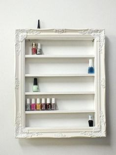 Diy makeup organizer, makeup organization, diy makeup storage, diy vanity s Diy Makeup Organizer, Storage Organizers, Shelf Organizer, Frame Shelf, Frame Display, Shelving Display, Diy Vanity, Vanity Ideas, Vanity Room