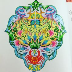 """productive day #colouring #colouringbook #flowers #lostocean"""