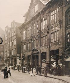 1907 Hamburg - Die Straße Herrengraben vom Schaartor gesehen. ☺