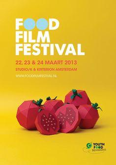 Poster design for the Food Film Festival Event Poster Design, Event Posters, Graphic Design Posters, Graphic Design Typography, Graphic Design Inspiration, Food Graphic Design, Food Poster Design, Food Posters, 3d Typography