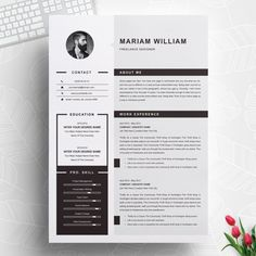 Modern & Clean Resume / CV Template by ResumeInventor on Cover Letter Template, Cv Design Template, Modern Resume Template, Resume Template Free, Creative Resume Templates, Free Resume, Creative Cv, Resume Tips, Resume Cv