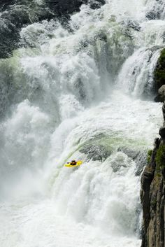 #kayaking waterfalls : not for the faint of heart.  From : bippityboppity boo Like, Repin, Share, Follow Me! Thanks!