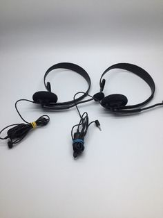 OFFICIAL Microsoft xBox 360 Wired 2.5mm Chat Headset Mic Headphones BLACK x2 in Video Games & Consoles, Video Game Accessories, Headsets | eBay! Xbox 360, Playstation, Gaming Headset, Games Consoles, Video Game Console, Wii, Microsoft, Video Games, Nintendo