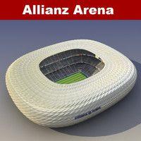 3d model allianz arena
