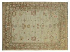 ASYA USHAK / TURKEY Item Number:24763 Width: 10 ft. 0 in. Length: 14 ft. 3 in. Field: ALL OVER PATTERN Field Color: BEIGE Border Color: BRO... (828)-687-1968 www.togarrugs.com