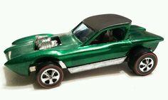 Vintage Hot Wheels Redline 1967 Python Green Diecast Car Mattel racing race  #HotWheels #Python