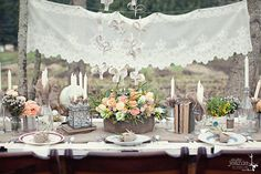 #rustic, #boho chic table decor by Kailey Michelle Events