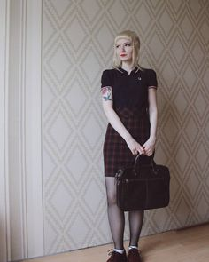 Post with 19 votes and 430 views. Tagged with trojan, skinhead, fredperry, skinheadgirl, britishculture; Shared by Hawkhead. Skinhead Reggae, Skinhead Girl, Skinhead Style, Mod Fashion, Girl Fashion, Fashion Bags, Fashion Ideas, Dr. Martens, Reggae Style