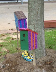 Bird house built by Life Skill Training students and decorated by other students in the art therapy studio at Woodrow Wilson Rehabilitation Center