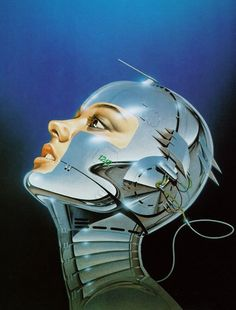 Pin says Classic robot fantasy art from the incredible Sorayama. These illustrations inspired the AIBO robot. Arte Sci Fi, Sci Fi Art, Fantasy Kunst, Fantasy Art, Art Cyberpunk, Sci Fi Kunst, Science Fiction Kunst, Ehime, Futuristic Art