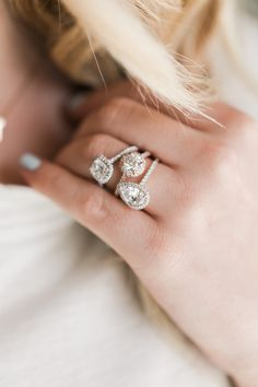 Pretty halo engagement rings by James Allen Design Your Own Engagement Rings, Engagement Ring Styles, Love Ring, Dream Ring, Halo Rings, Diamond Are A Girls Best Friend, Beautiful Rings, Just In Case, Bracelets