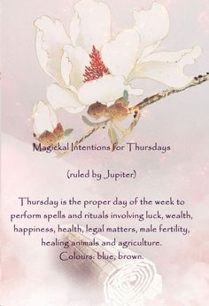 Magickal Intentions for Thursdays
