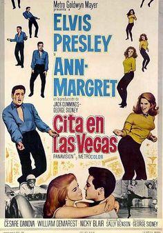 Cita en Las Vegas (Viva Las Vegas) 1964 Romántico musical en el que Elvis interpreta a un piloto de coches de carreras que también canta y que busca dinero para participar en el Gran Prix, mientras Ann-Margret es una bailarina de un casino. Entre canción y canción, surge el amor...