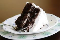 The BEST chocolate cake EVER - moist rich chocolaty - with amazing buttercream frosting