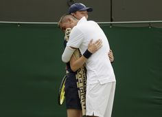 Nick Kyrgios of Australia hugs a ball boy during his match against Richard Gasquet of France at the Wimbledon Tennis Championships in London, July REUTERS/Henry Browne Wimbledon Strawberries And Cream, Wimbledon Tennis, Tennis Championships, Tennis Players, Chef Jackets, Laughter, Hugs, Bullshit, Crowd