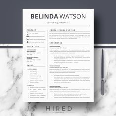 Professional Resume CV Template Modern Resume CV for Word & Resume Cv, Resume Writing, Resume Design, Modern Resume Template, Cv Template, Resume Templates, Cover Letter Tips, Cover Letter Template, Create A Resume