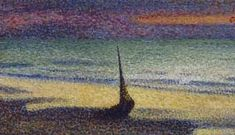 Musée d'Orsay: Georges Lemmen Beach at Heist (1865-1916) Movement- Pointillism Technique of painting with small dots to form an image. This is a technique branching out of impressionism. This complex composition is made up of thousands of small dots. The artist created an impressionism piece, with the pointillism technique.