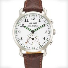 Frasier Chronograph Leather Strap Watch by Jack Spade