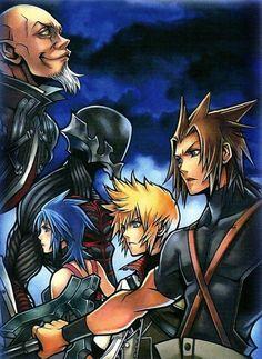 Aqua, Terra, Ven, Van, Xehanort Kingdom Hearts