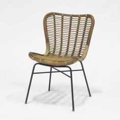 Our Sydney Rattan Side Chair from Palecek features modern lines and a woven natural wicker seat and back. Add a touch of coastal style to any decor.