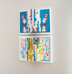 Dr. Seuss Room Decor, Wall Art, Kids Room, Book Sculpture