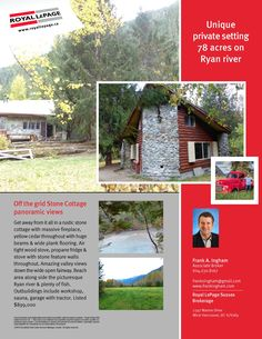 Sold...Stone Cottage 78 Acres Rustic Stone, Wide Plank Flooring, Beams, Acre, Real Estate, Cottage, Cabin, River, House Styles
