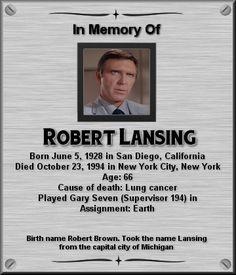 Robert Lansing Star Trek Actors, Star Trek Characters, Star Trek Original Series, Star Trek Series, Star Trek Crew, Star Trek 1966, Star Trek Images, Star Wars, Star Trek Universe