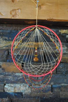 Red Handmade Unique Dream catcher Dreamcatcher by LilYellowSpider, $15.00