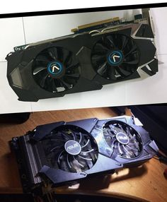 Before ( up side ) and after modification ( down side )