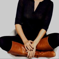 Nickels brown knee high boots Brown knee high boots worn once Nickels Shoes Over the Knee Boots
