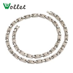 Cheap germanium necklace, Buy Quality necklace necklace directly from China titanium necklace Suppliers: Wollet Jewelry Energy Healing Magnet Infrared Women Sport Bio Magnetic Pure Titanium Germanium Necklace for Female